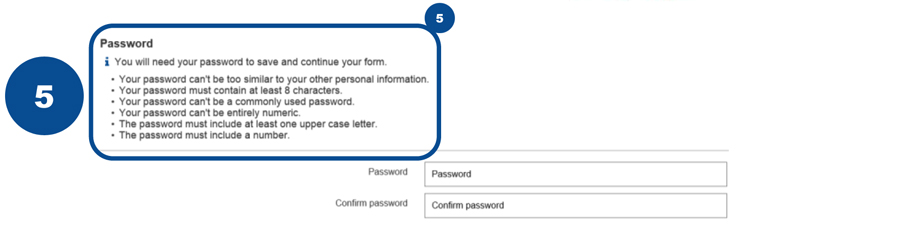 5 Follow these password rules