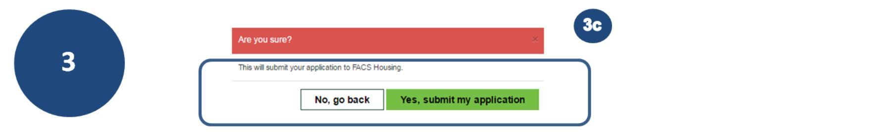 3c. If you Accept the details, you will be asked to submit your application.
